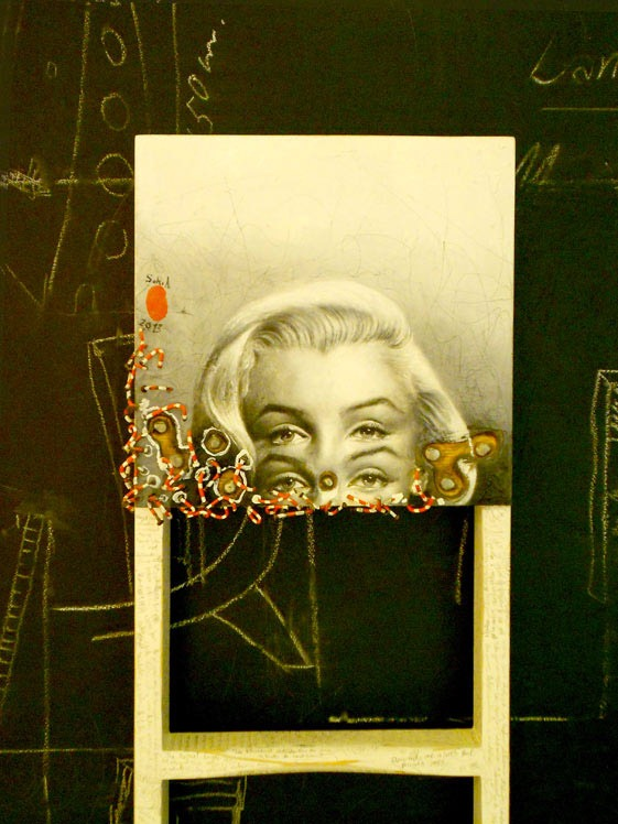 Marilyn-Monroe-Pop-Culture-Painting-by-Mario-Soria-Detail