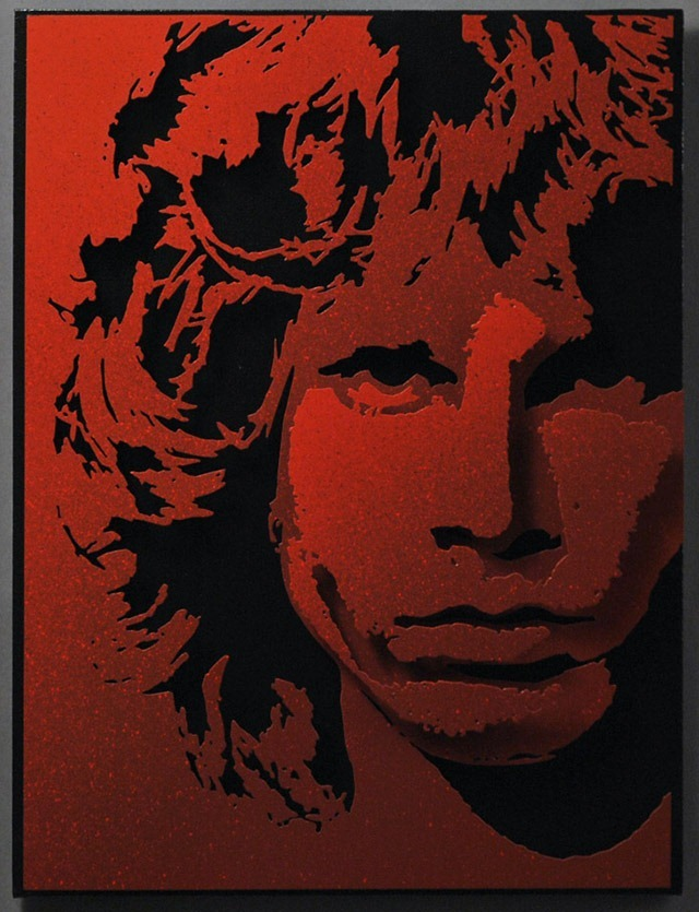 Alan-Derrick-Jim-Morrison_Art_Red