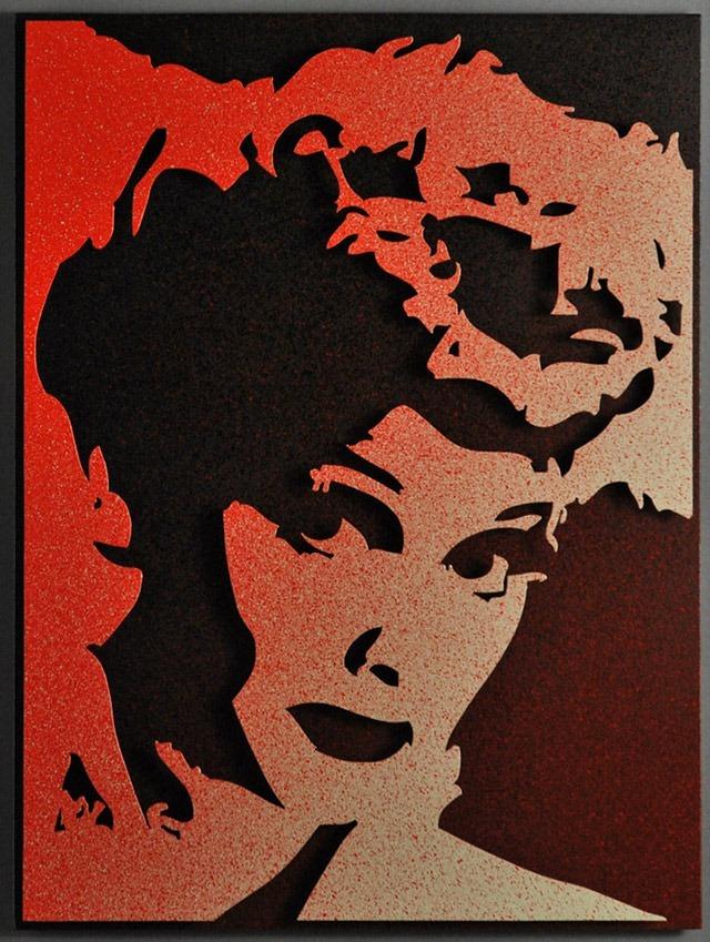 Alan-Derrick-Lucille-Ball_Art_Red