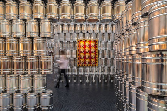 A Temporary Andy Warhol Art Museum Built with 1,500 Metal Cans