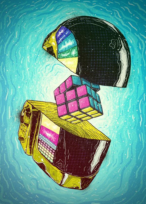 Illustrations-by-Brazilian-Artist-Bruno-Miranda-Daft-Punk