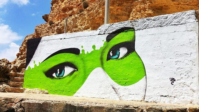 The Cliffs Have Eyes – Urban Art by Fin DAC