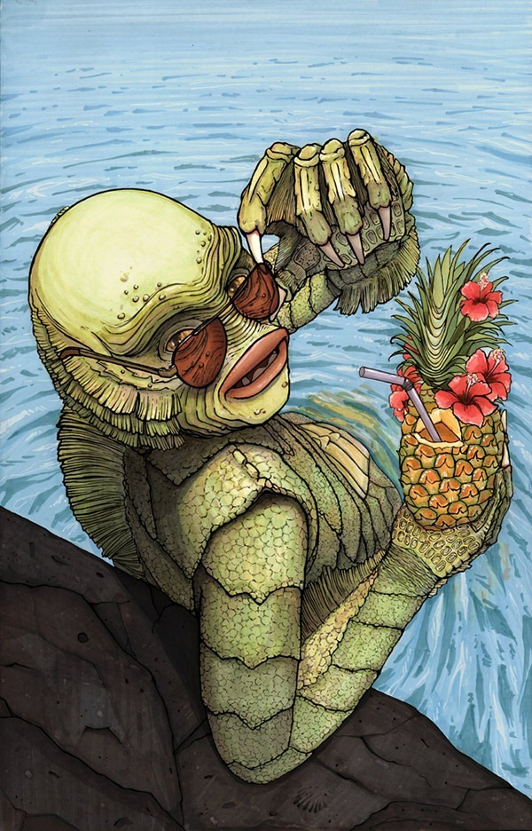 Gill-man-The-Calendar-of-Sexy-Monsters-Erika-Deoudes