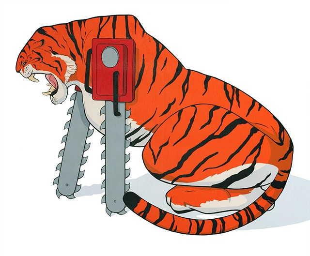 Eric_pause_chainsaw_animals_bengal_tiger