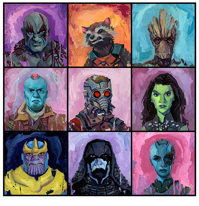 The Guardians of the Galaxy Art Print by Rich Pellegrino