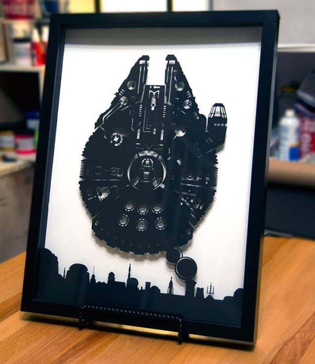 Millennium Falcon Over Mos Eisley – 3D Papercraft by Will Pigg