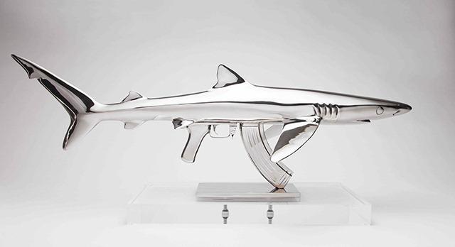 Amazing Shark Gun Sculptures by Christopher Schulz