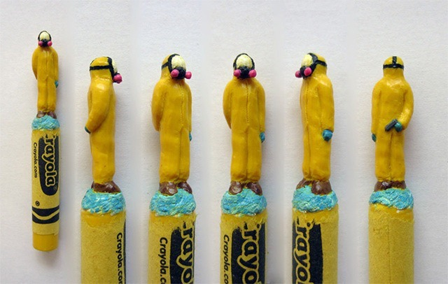 Walter-White-Breaking-Bad-Crayon-Sculptures-by-Hoang-Tran