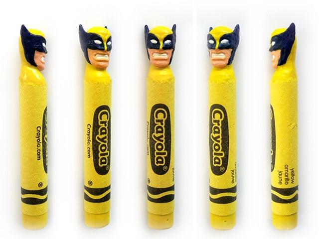 Wolverine-Crayon-Sculptures-by-Hoang-Tran