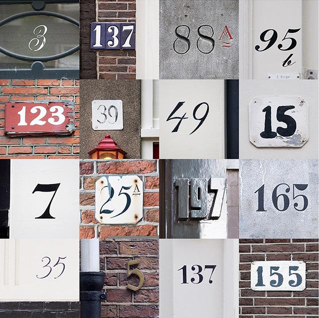Beautiful Poster Of Door Numbers Of Houses In Amsterdam