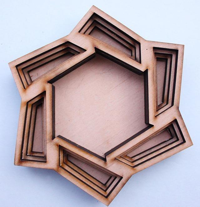 Laser Cut Wood Art by Ben James 07