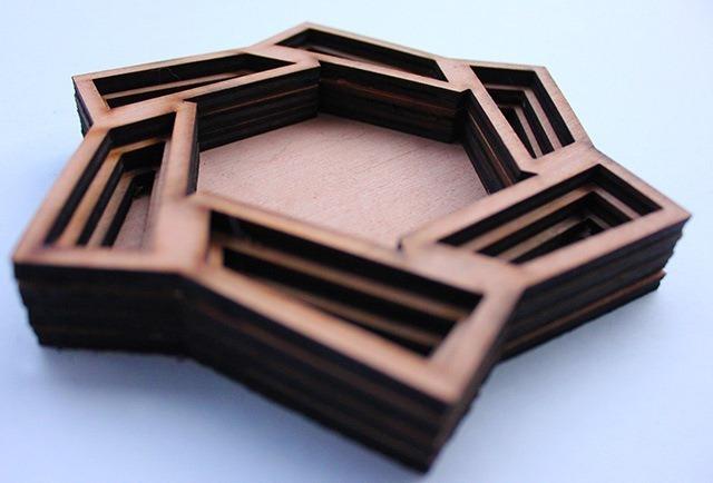 Laser Cut Wood Art by Ben James 08