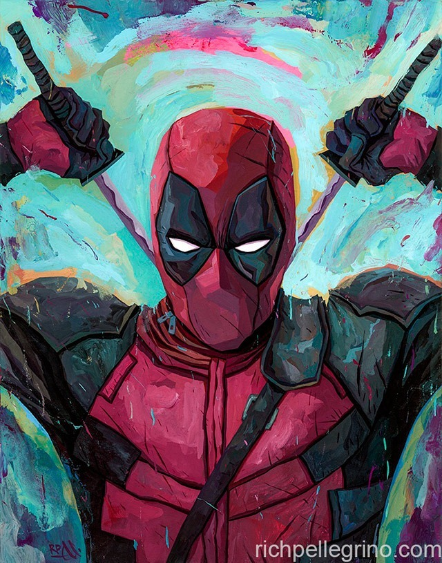 Deadpool-Painting-by-Rich-Pellegrino