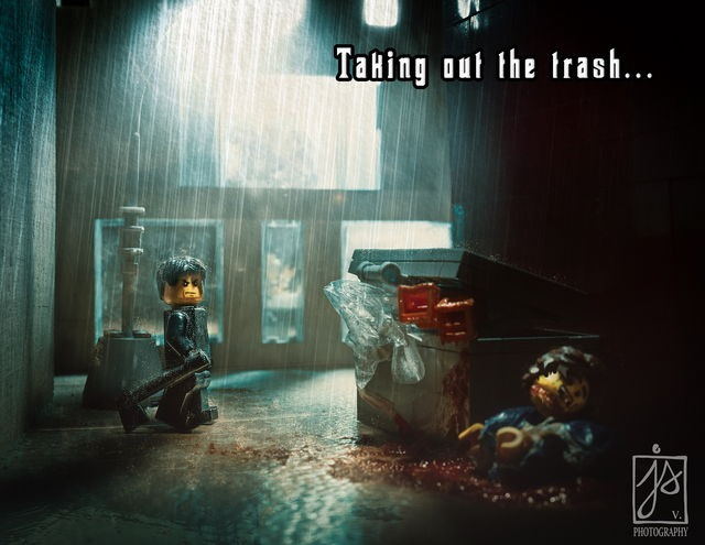 Lego Horror Scenery Created by Finnish Photographer Juhamatti Vahdersalo