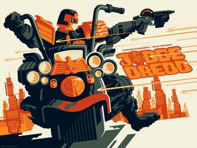 Awesome New Judge Dredd Prints by Tom Halen and Matt Ferguson