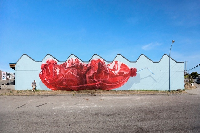 'Exhausting Machine' is a Huge Street Art Mural by NEVERCREW