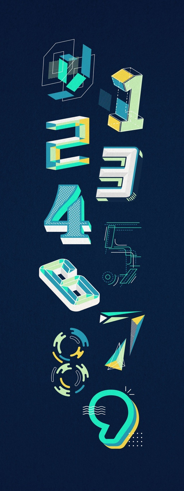 Numbers_all - Jesseca Dollano Graphic Design Created For 36 Days of Type Challenge