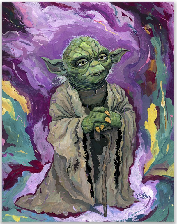 """Old Wise One"" – Stunning Painting of Jedi Master Yoda by Rich Pellegrino"