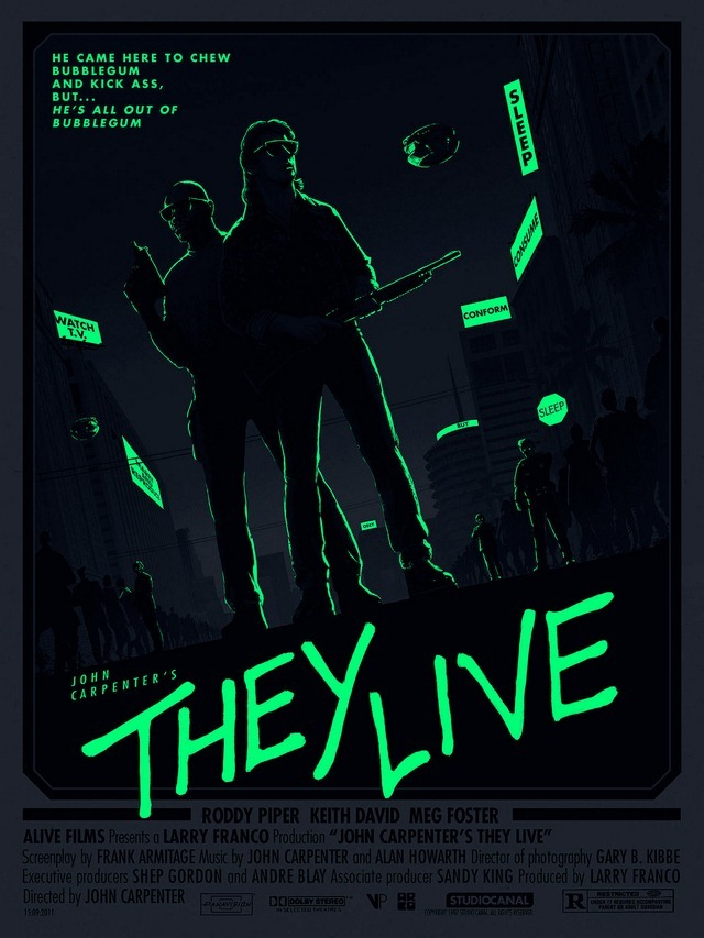 They Live Glow Art Print by Matt Ferguson