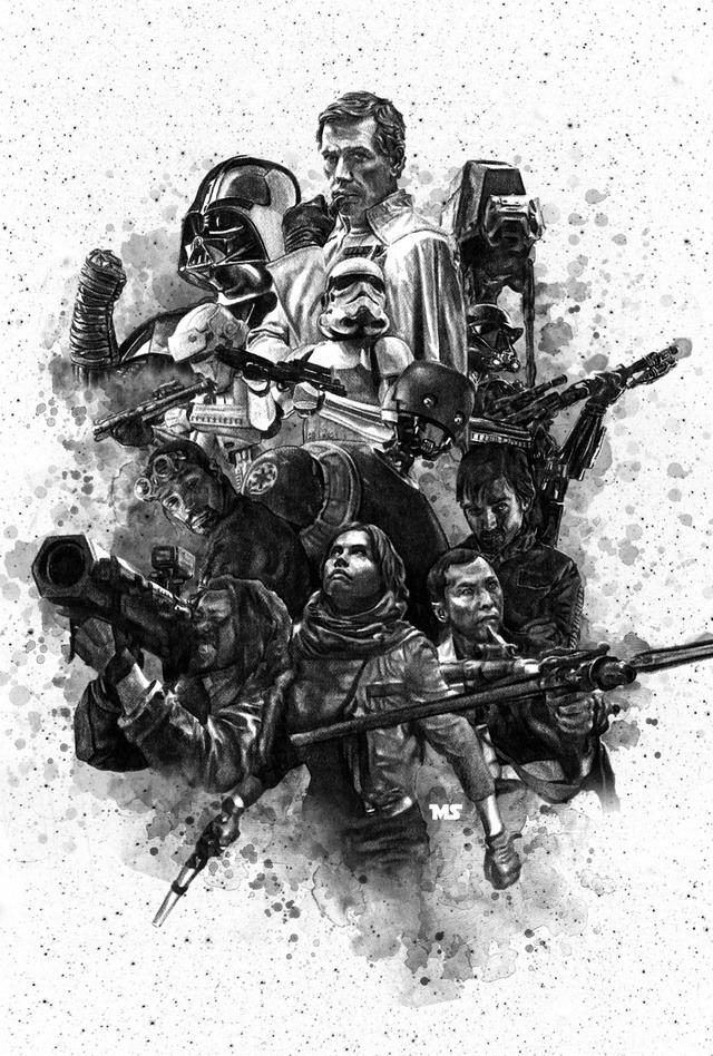 Rogue One fan art by Mathew Spurlock