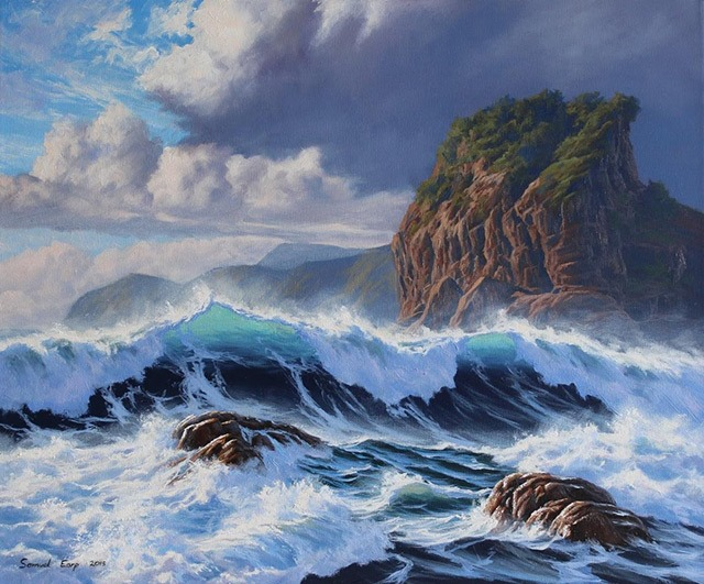 Stunning landscape paintings by samuel earp for Photos to paint