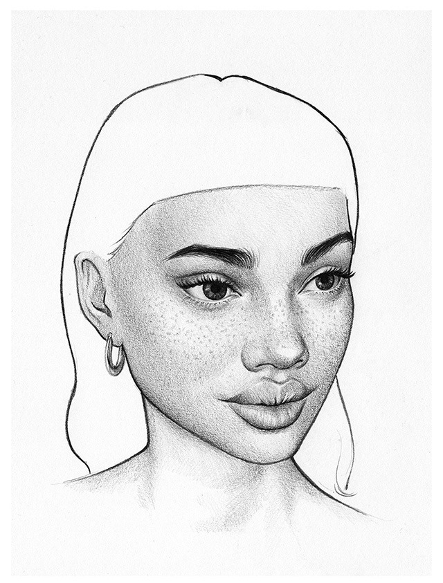 Pencil-Drawings-of-Beautiful-Woman-by-UK-Based-Artist-T.S-Abe-09