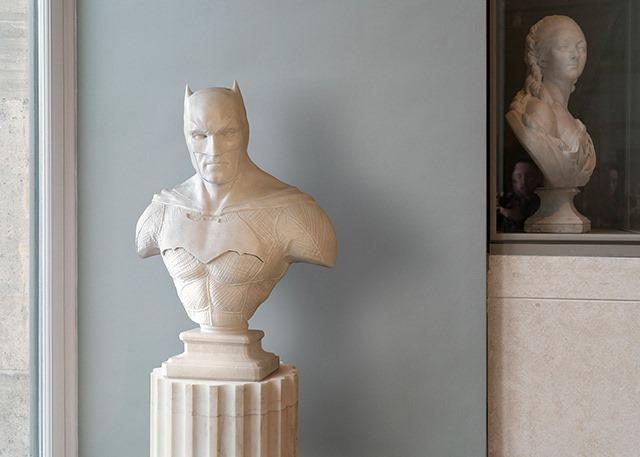 Superheroes-Classical-Sculptures-Leo-Caillard-Batman