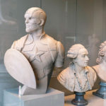 Superheroes as Classical Sculptures in The Louvre Museum