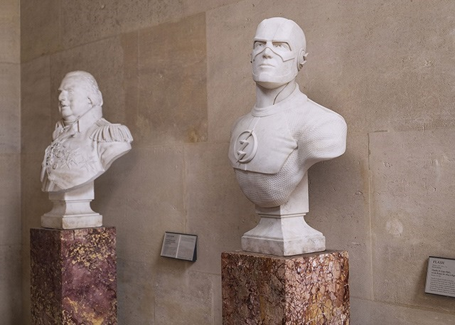Superheroes-Classical-Sculptures-Leo-Caillard-The Flash