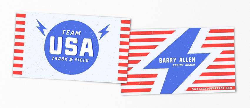Barry Allen The Flash pop-culture-business-card-10