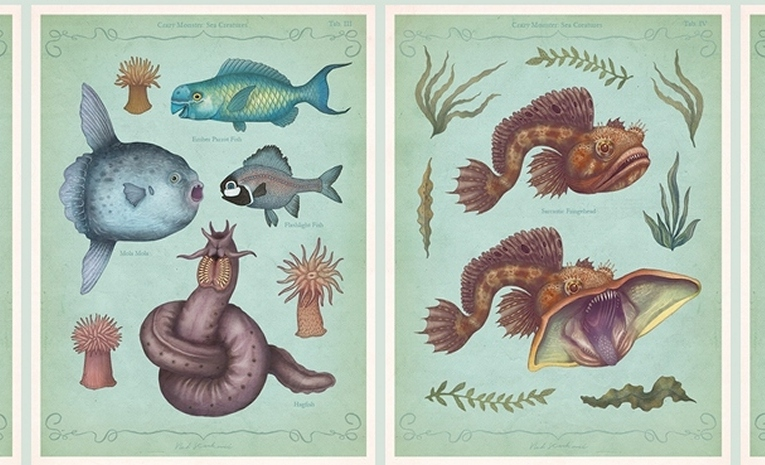 Illustrations of Scary Real-Life Sea Monsters by Vladimir Stankovic
