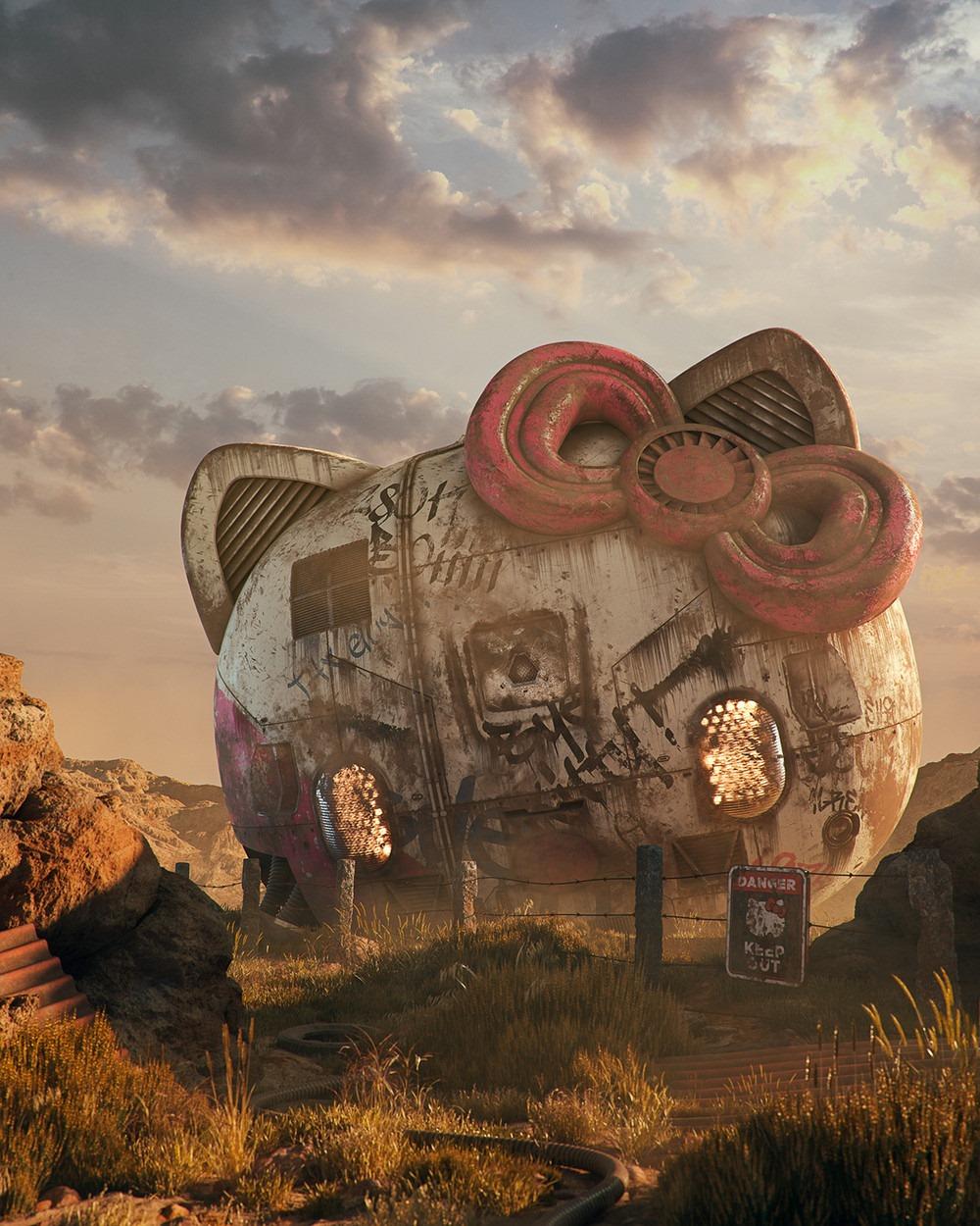 Hello Kitty Pop Culture Dystopia Filip Hodas