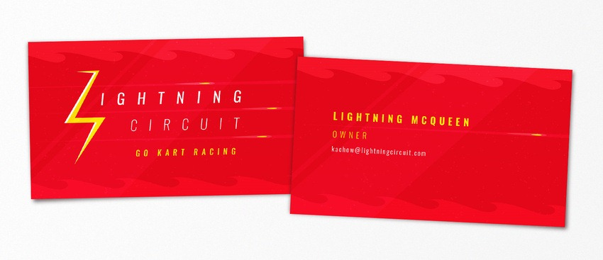 Lightning McQueen pop-culture-business-card-11