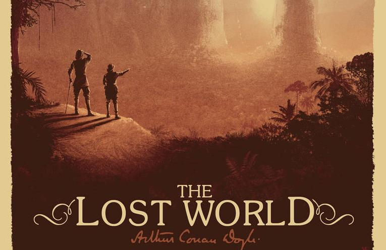 Sir Arthur Conan Doyle's 'The Lost World' Art Print by Matt Ferguson