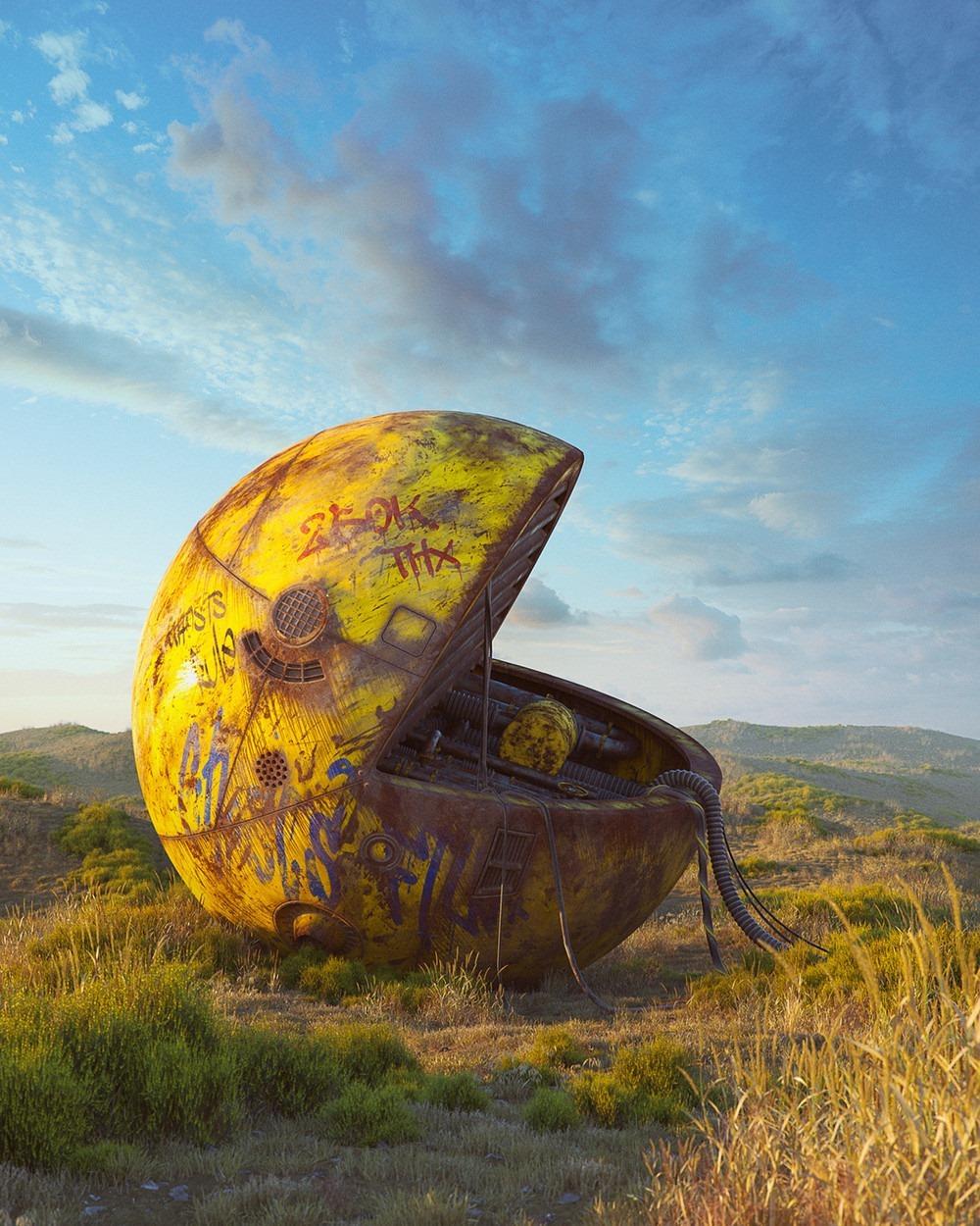 Pacman Pop Culture Dystopia Filip Hodas
