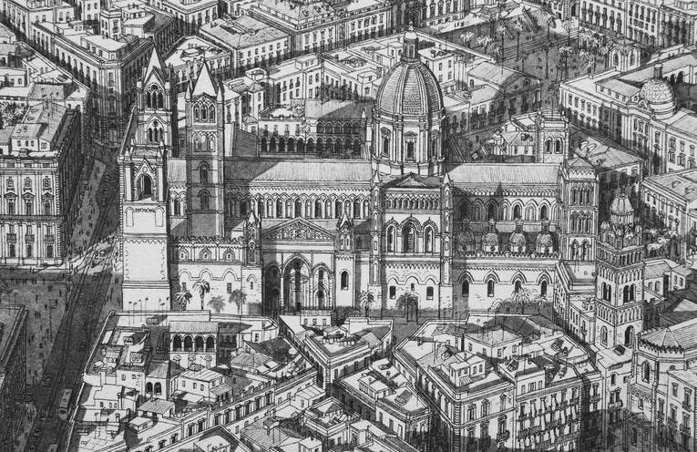 Intricate Cityscapes Drawn From Memory by Stefan Bleekrode