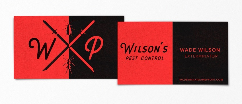 Wade Wilson Deadpool pop-culture-business-card-15