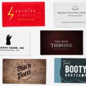 Humorous Business Cards For Famous Pop Culture Characters