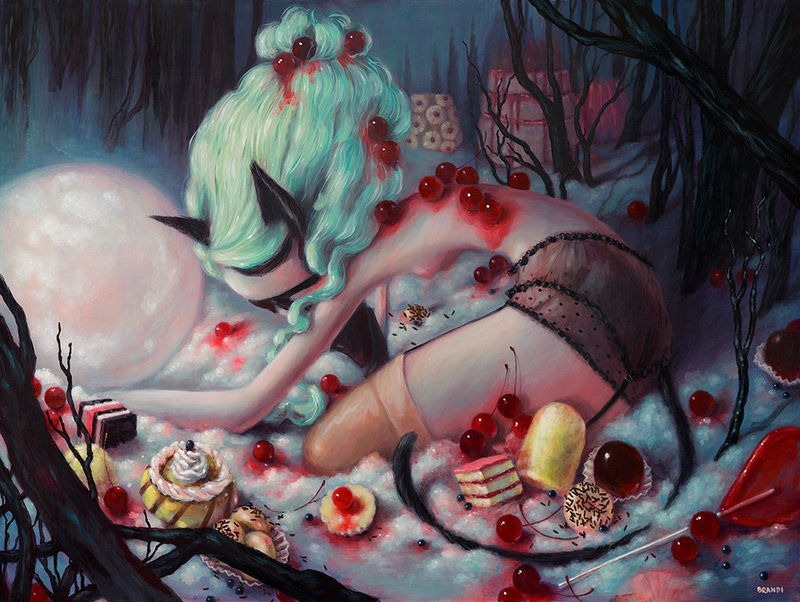 Brandi Milne Fiend (The Ever Hunger, Wild Beast) (acrylic on panel, 33 x 44 inches)