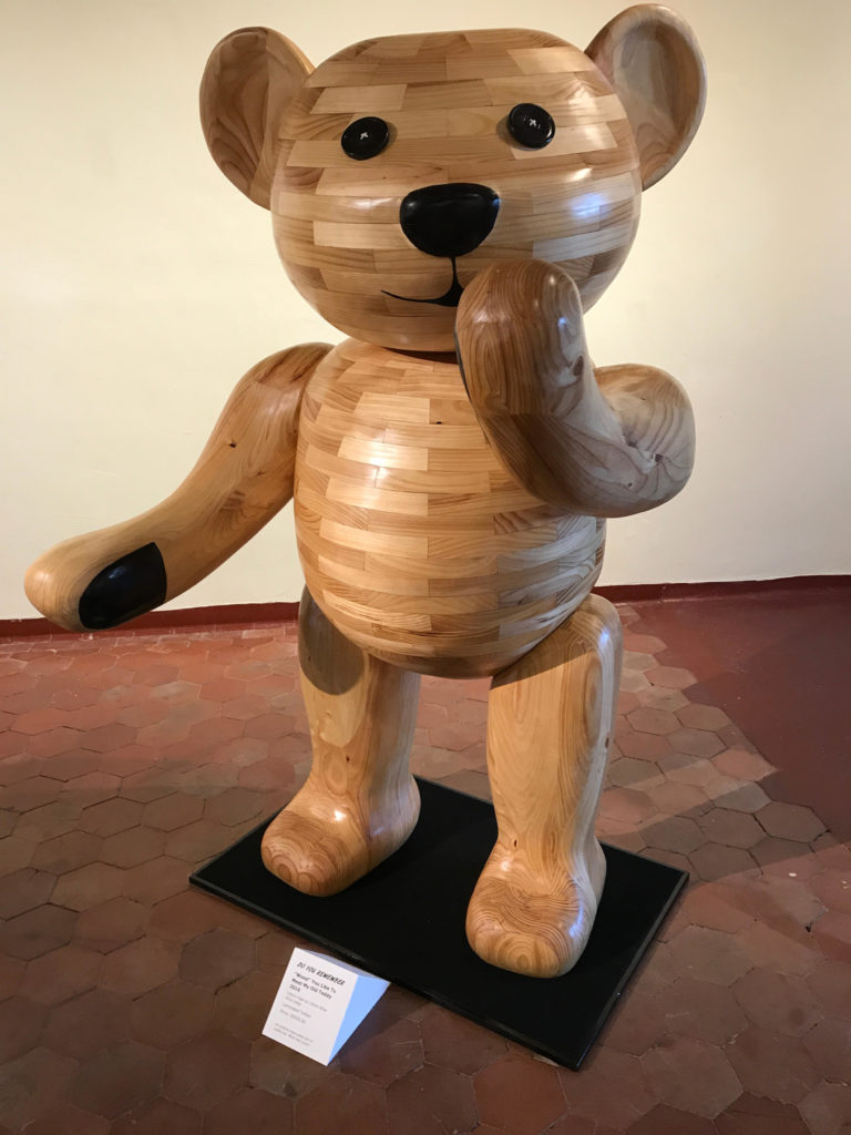 Teddy bear sculpture by John Abery Australian Sculptor
