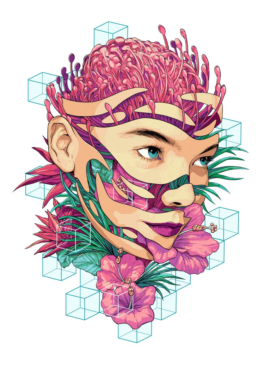 The Psychedelic Illustrations of Matt Chu